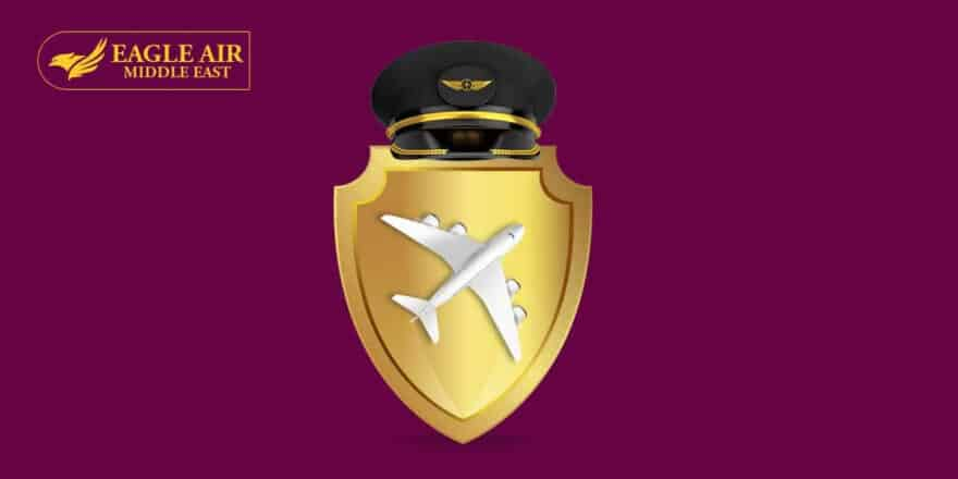 A Badge With An Airplane Inside And A Pilot'S Cap On Top