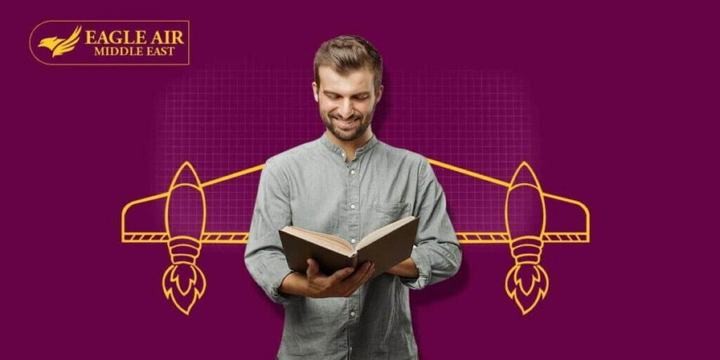 طالب يدرس ليصبح طيار
