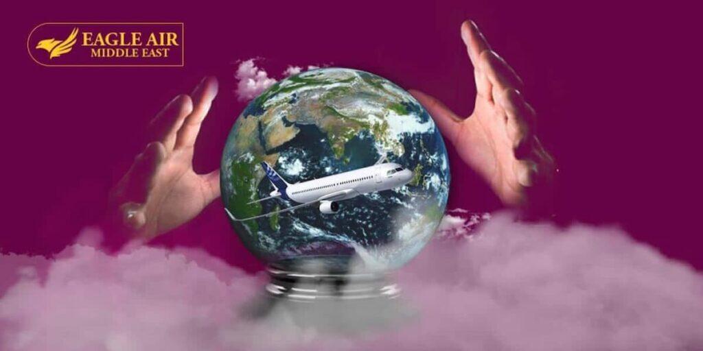 كرة بلورية على شكل كرة الأرض بها حقائق وظيفة الطيران
