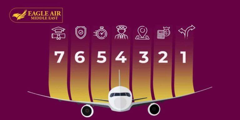 طائرة فوقها 7 عوامل لاختيار مدرسة الطيران