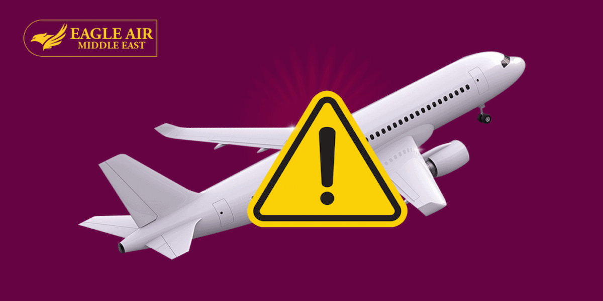 صورة طائرة وعليها علامة لتدل على أن الطيران آمن