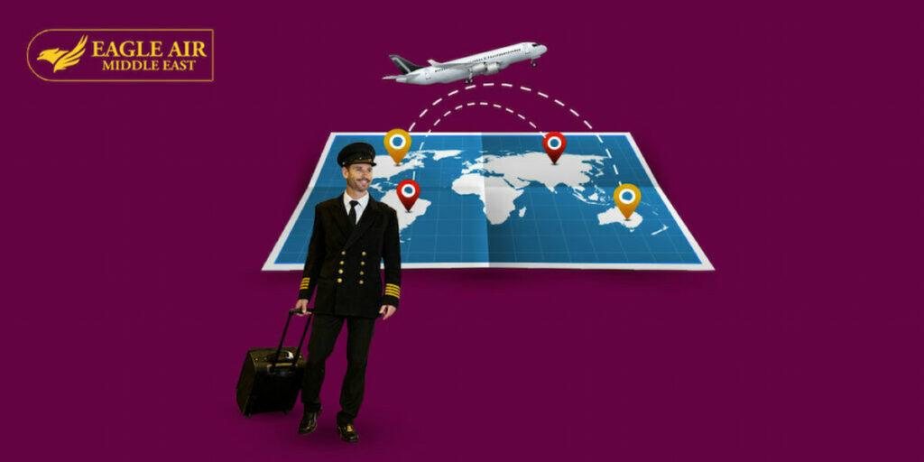 طيار يسافر من دولة إلى أخرى