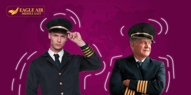 A young pilot besides an older one