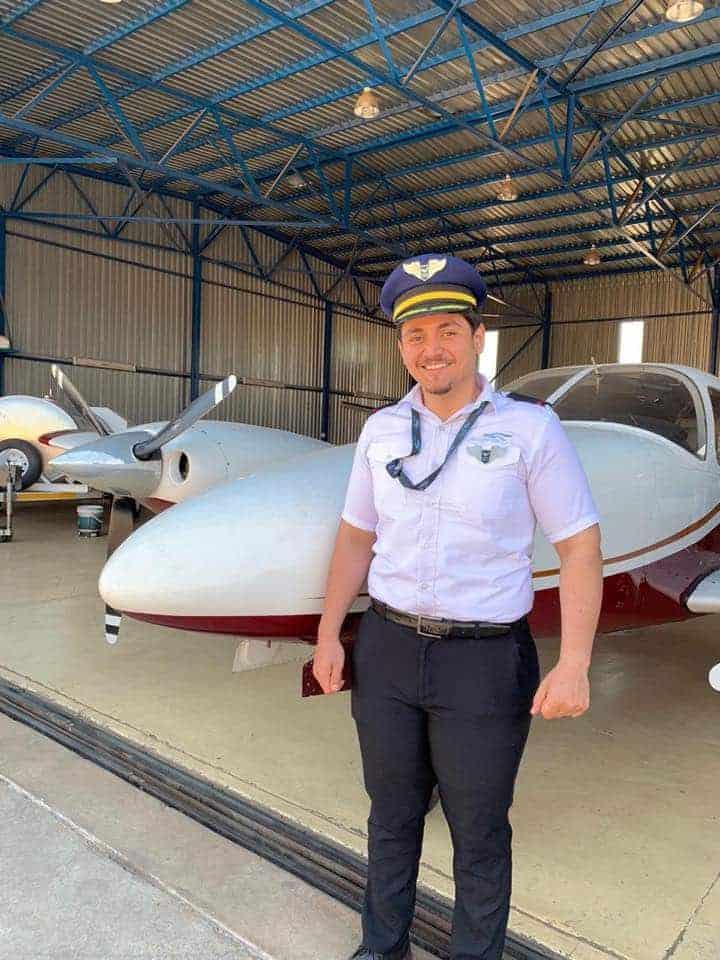 A Pilot Standing