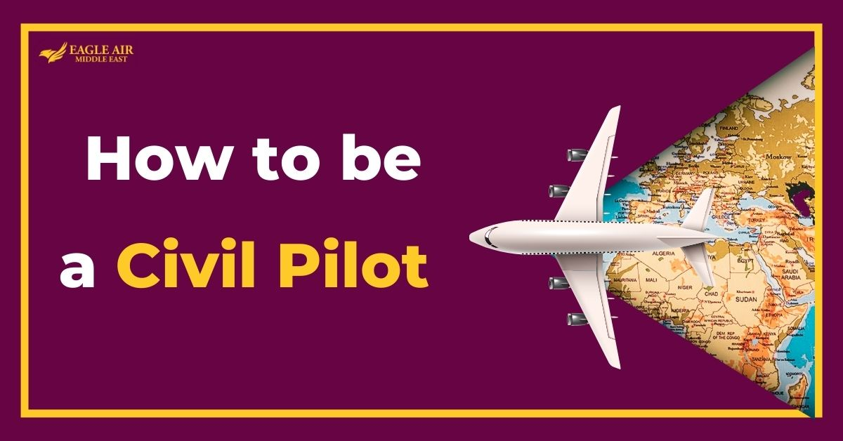 An Airplane With A Map Underneath It And A Text Saying: How To Be A Civil Pilot