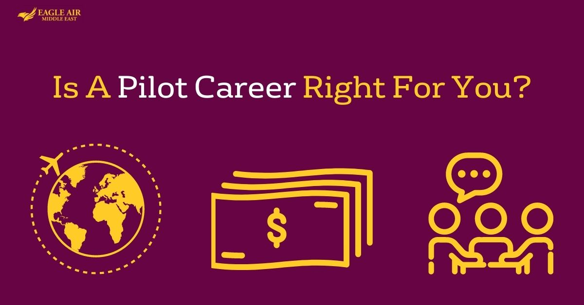 Small Icons For The Benefits Of Pilot Career